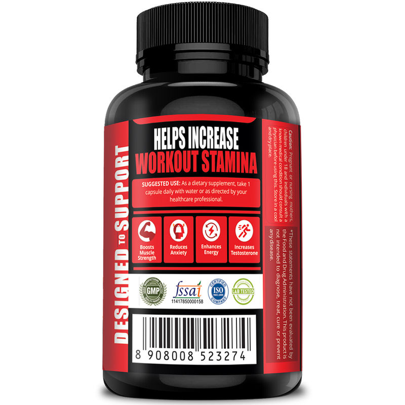 Simply Nutra Testosterone Booster Unflavored 60 Capsules