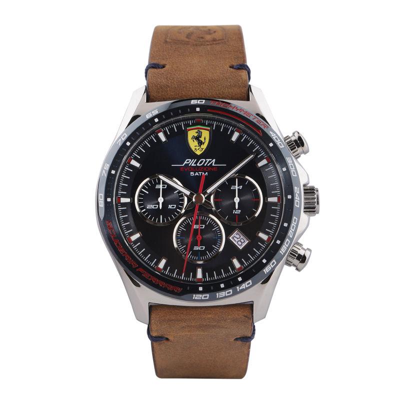 Scuderia Ferrari Pilota Evo Chronograph Blue Round Dial Men's Watch  0830711