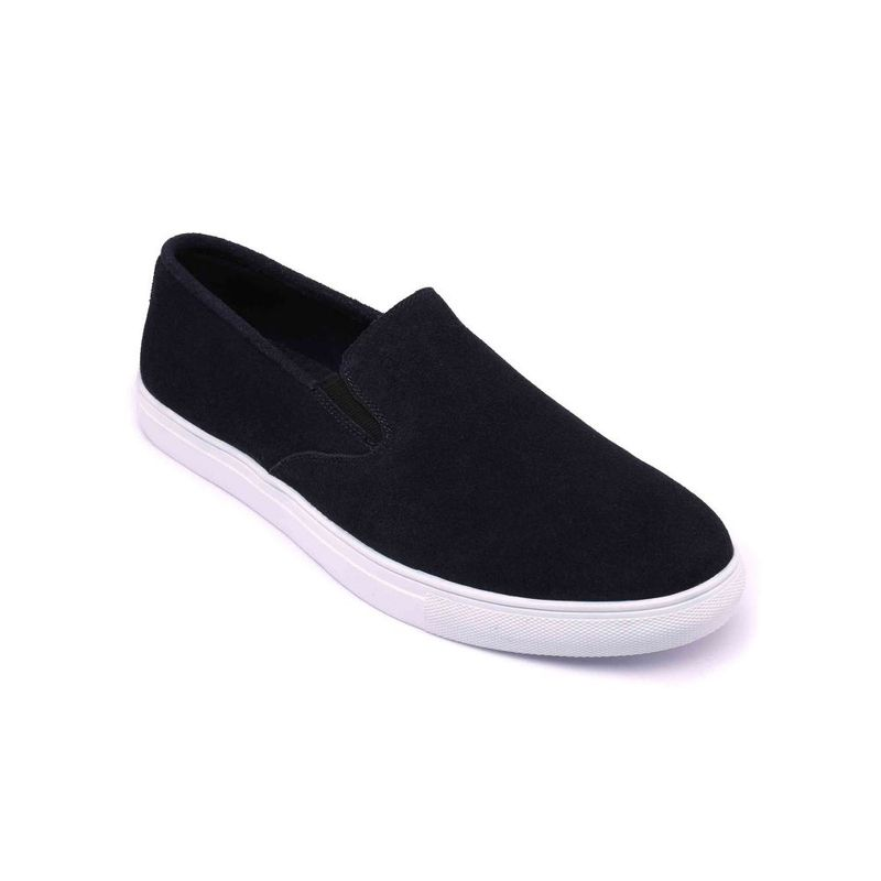 Heel & Buckle London Navy Blue Solid Slip-on Casual Shoes - Euro 39