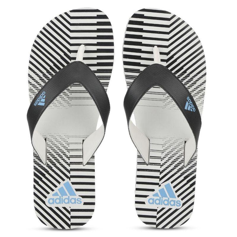 adidas Beach Print Max Out 19 M Grey Sliders - UK 6