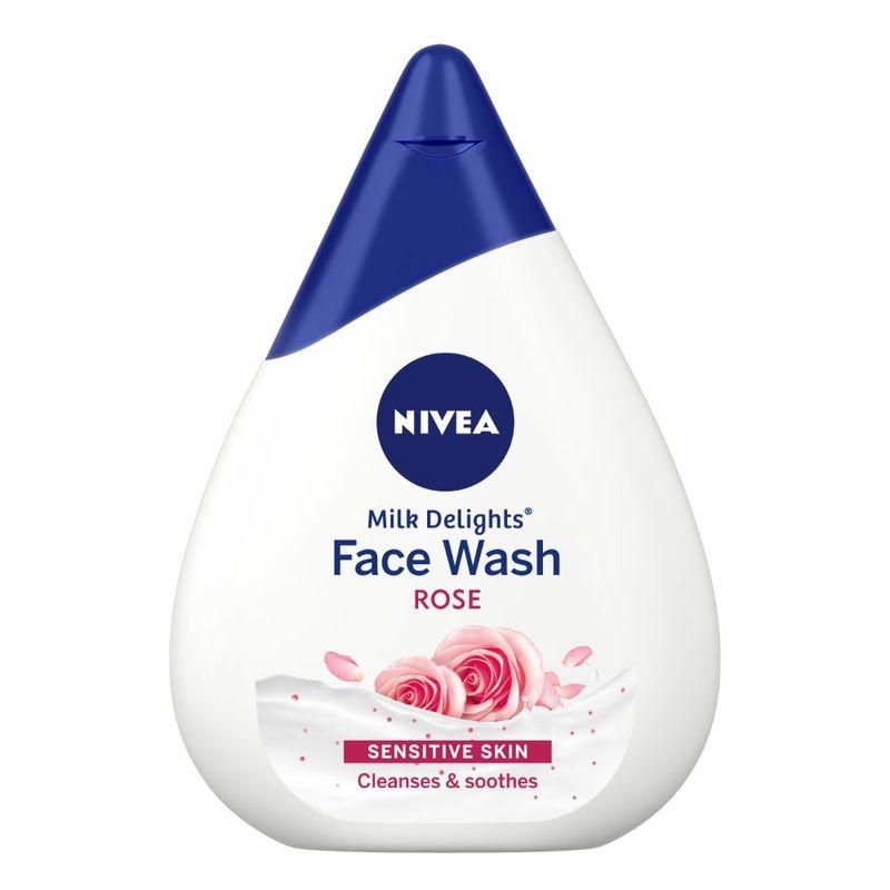 NIVEA Women Face Wash for Sensitive Skin, Milk Delights Rose