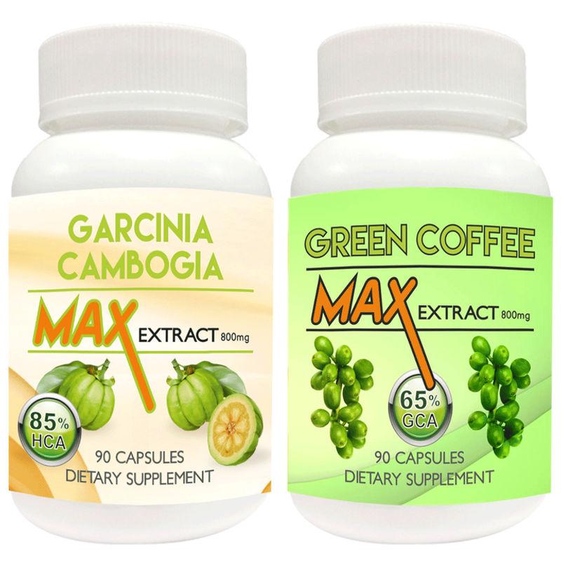 Nutravigour Garcinia Cambogia Max 85 Hca Extract 800mg Veggie 90 Capsules With Green Coffee Max Extract Chlorogenic Acid Gca 800mg Vegetarian 90