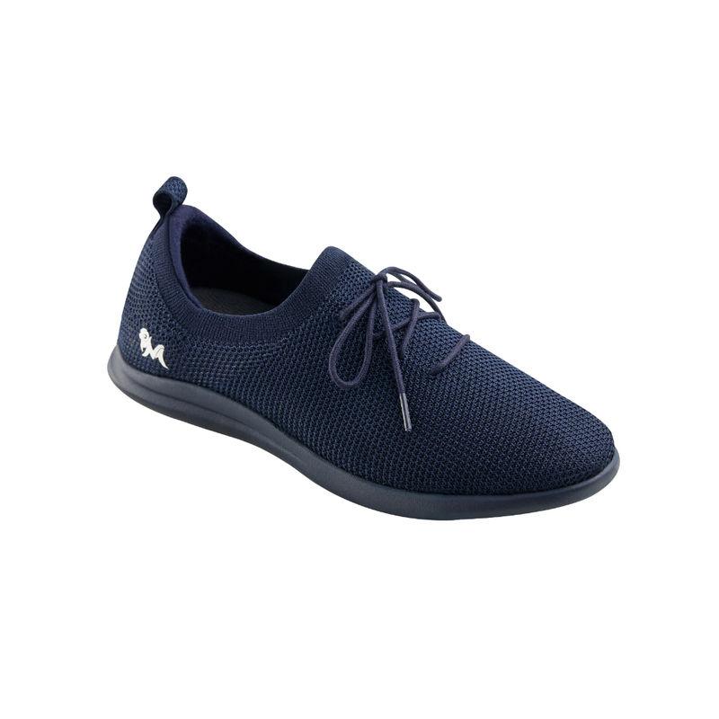 Neemans Knit Navy Blue Unisex Sneakers (UK 4)