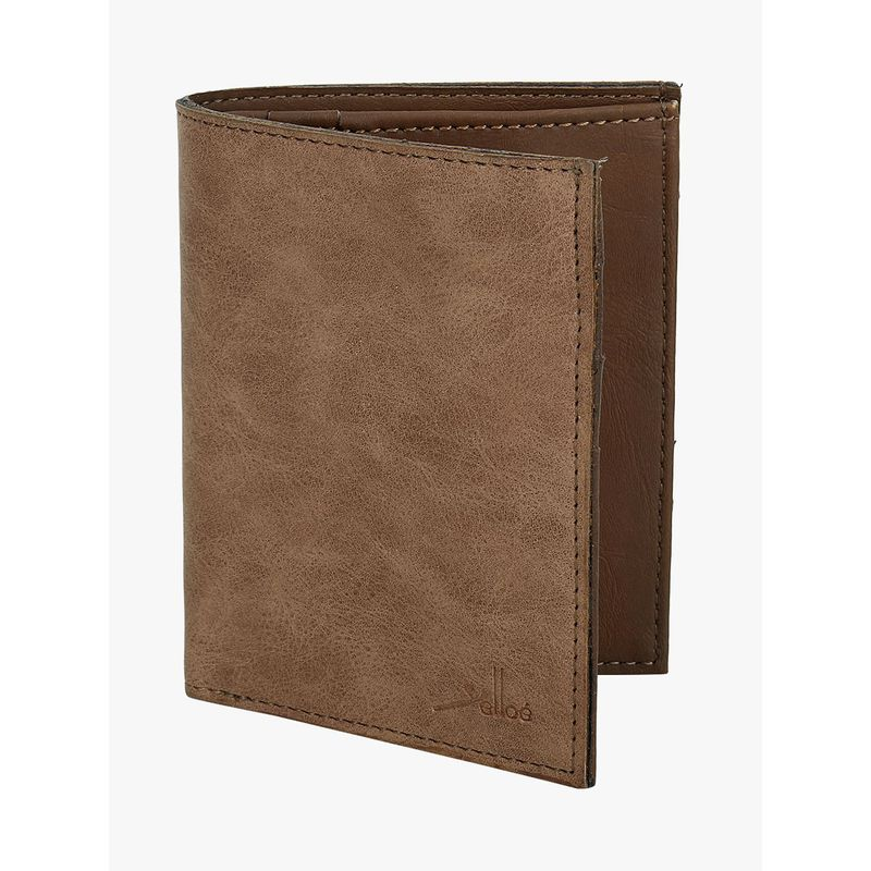 Yelloe Men Brown Artificial Leather Wallet  6 Card Slots