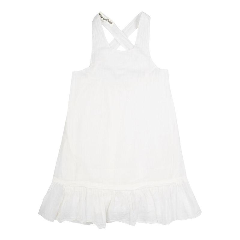 Nino Bambino 100% Organic Cotton Dress - White (3-4 Years)