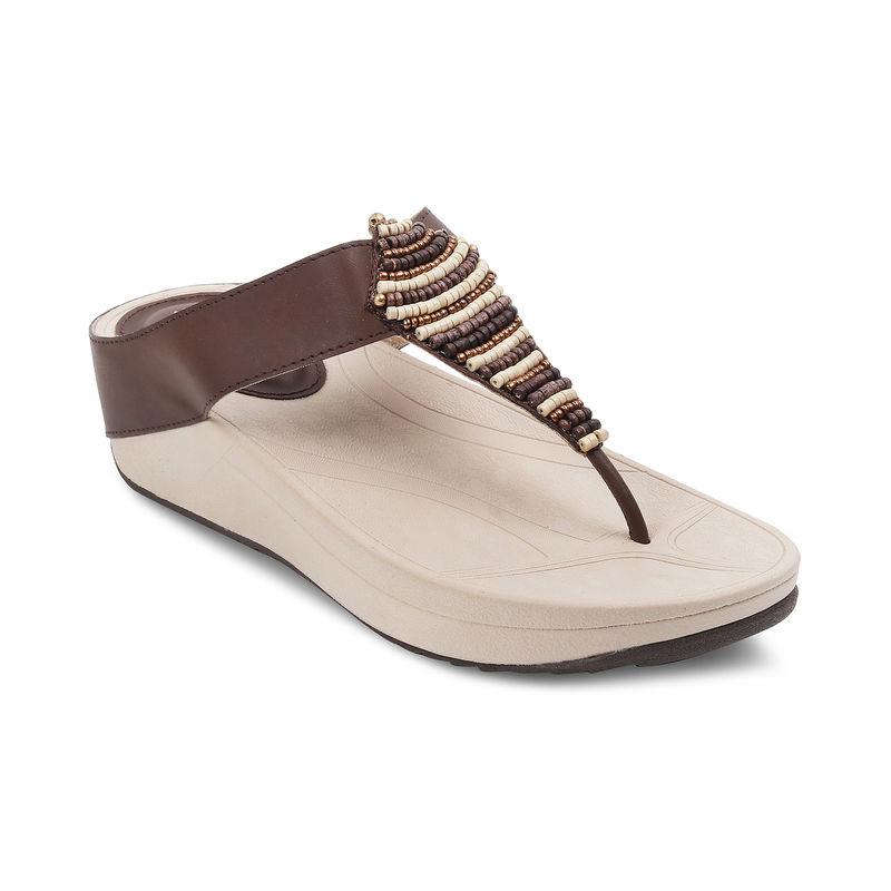 SOLE HEAD Brown Wedges Women Sandal