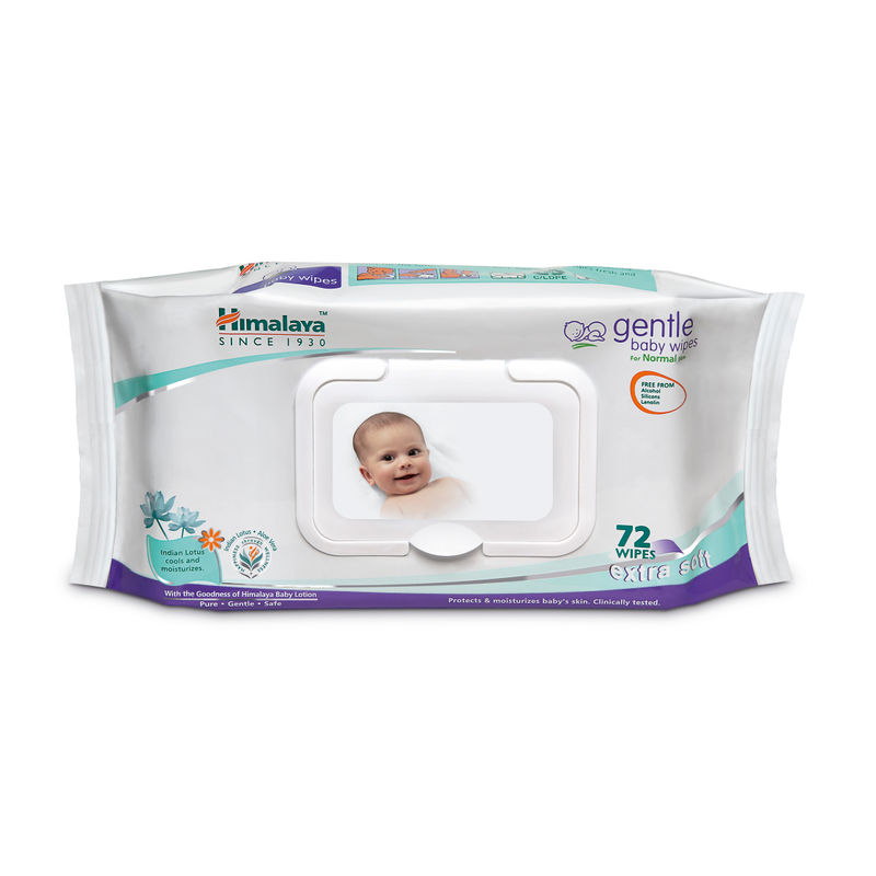 Himalaya Gentle Baby Wipes 72's