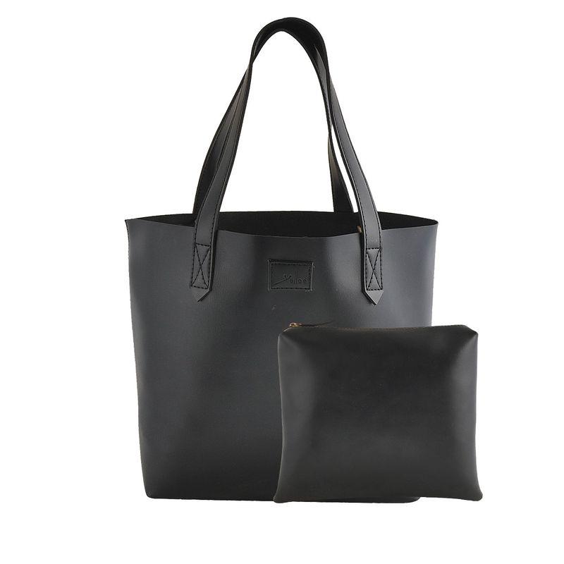 Yelloe Yelloe Black Synthetic Leather Hand Bag Black Hand Held Bag