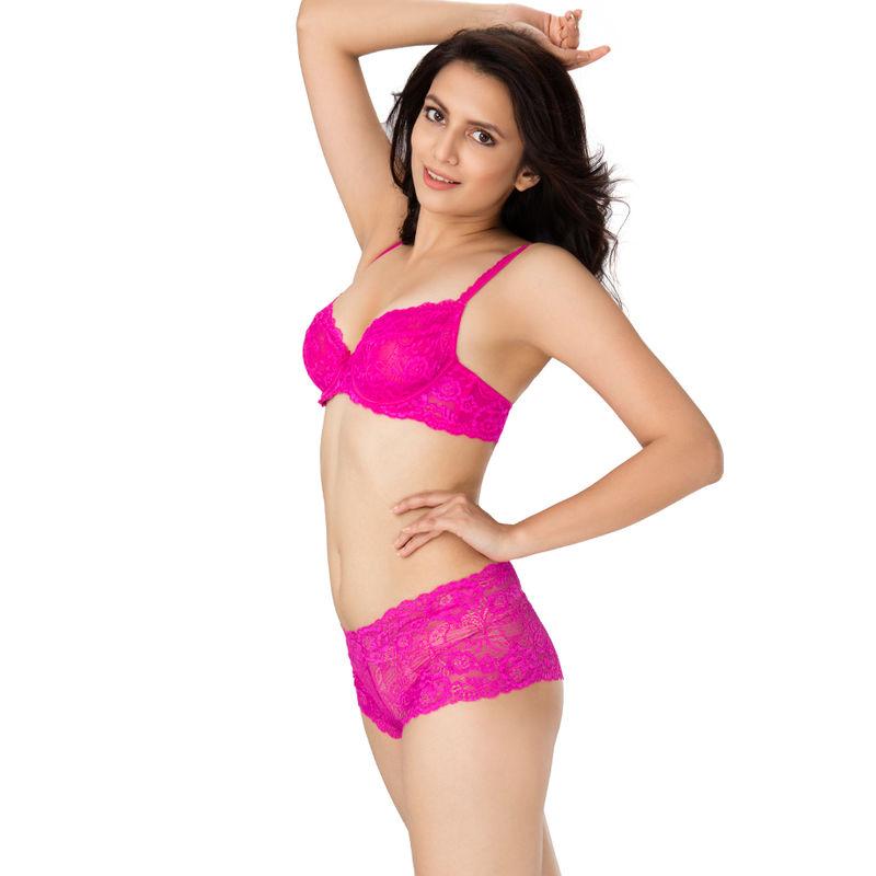 22673f9f1 PrettySecrets Super Sexy Lace Unlined Bra - Pink (38D)