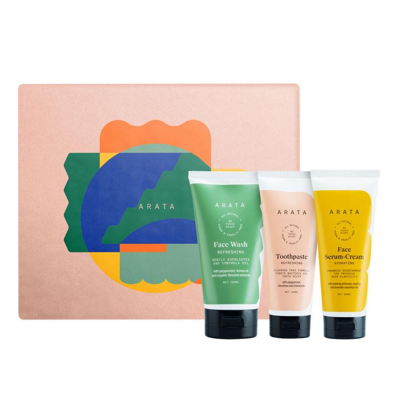 Arata Essential Morning Regime Gift Set - Large