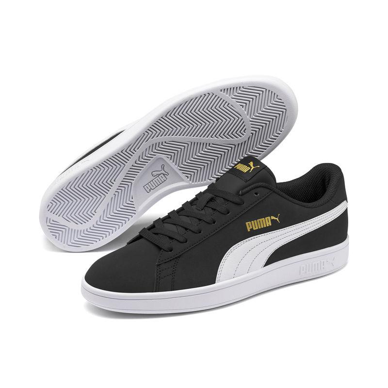 Puma Smash V2 Buck Black  White Sneaker