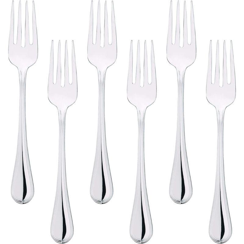 Bergner Crown 6 Pcs Stainless Steel Dessert Fork Set