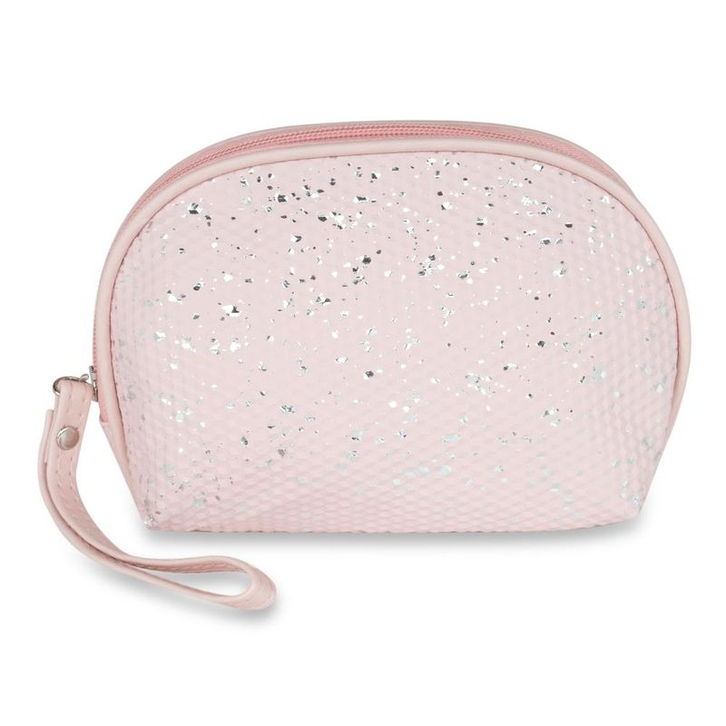 NFI Essentials Glittery Makeup Pouch For Women Stylish cosmetic Pouches travel Organiser Kit