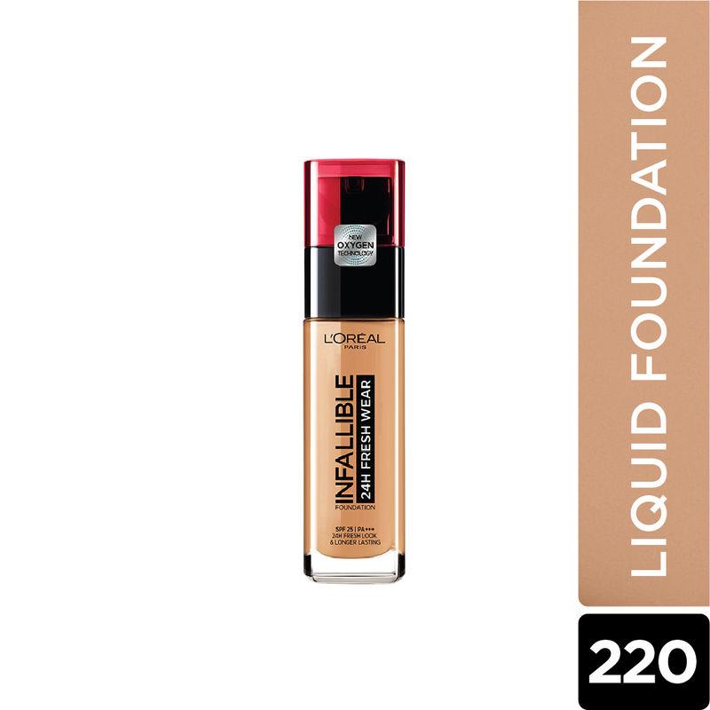 L'Oreal Paris Infallible 24H Fresh Wear Foundation - 220 Sand