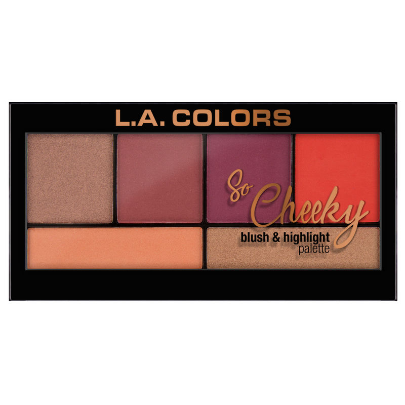 c2c8d552aea5 L.A. Colors So Cheeky Blush And Highlight Palette - Hot And Spicy at ...