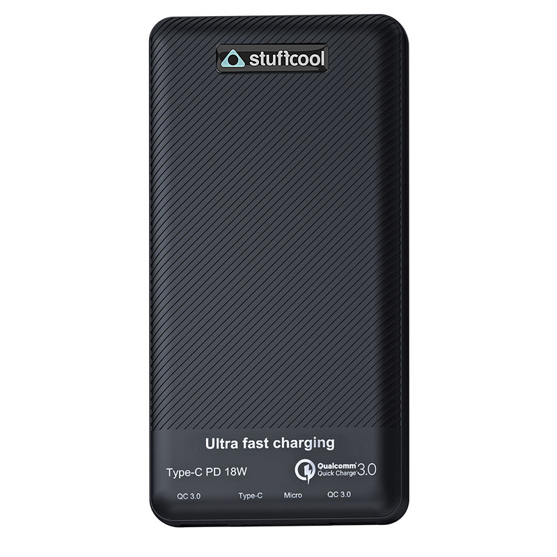 Stuffcool Type C 18W Power Delivery 10000 mAh Li Poly Power Bank with Qualcomm QC3.0