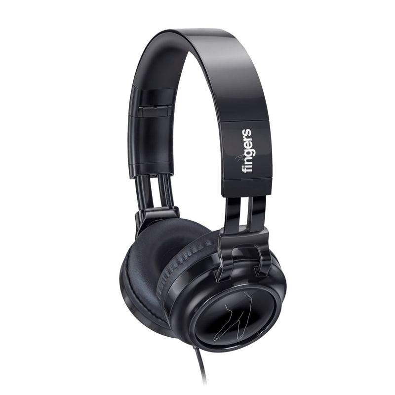 FINGERS Superstar H6 Wired Headset with in line Mic  Foldable Adjustment   Powerful Bass Experience