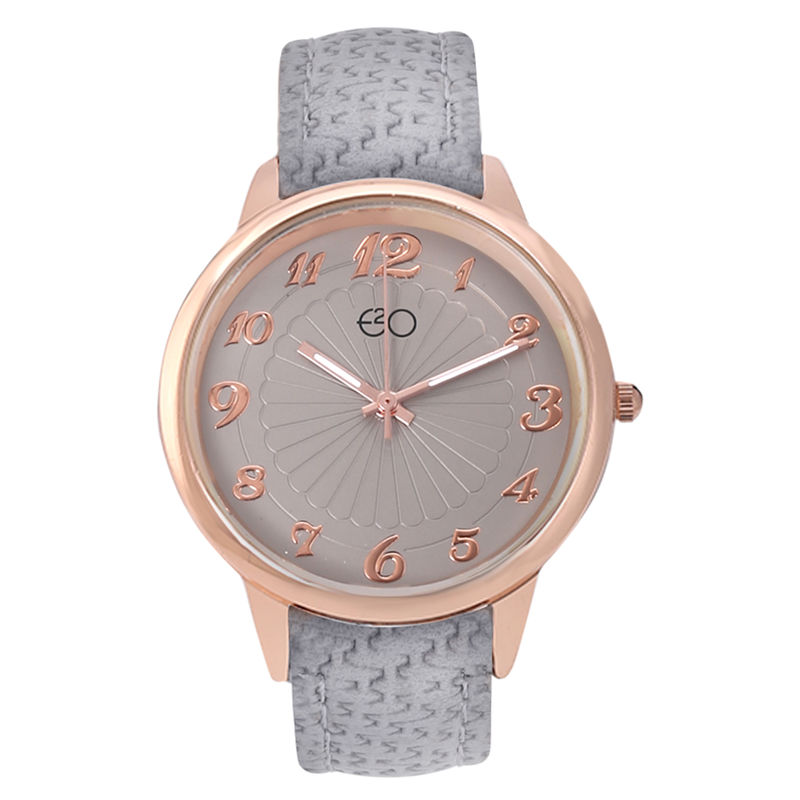 E2O Rose Gold   Grey Dial Analog Watch For Women