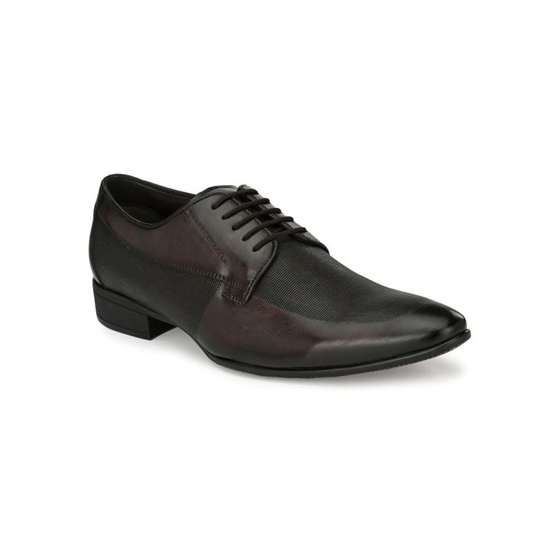 Hitz Solid Coco Formal Derby Shoes Brown - Uk 8
