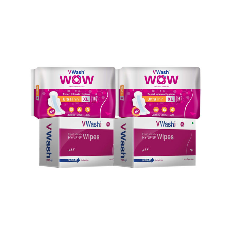 release date: 1cb87 333be VWash WOW UT 16s XL Pads - Pack of 2 + 2 Hygience Wipes Combo(52PCS)