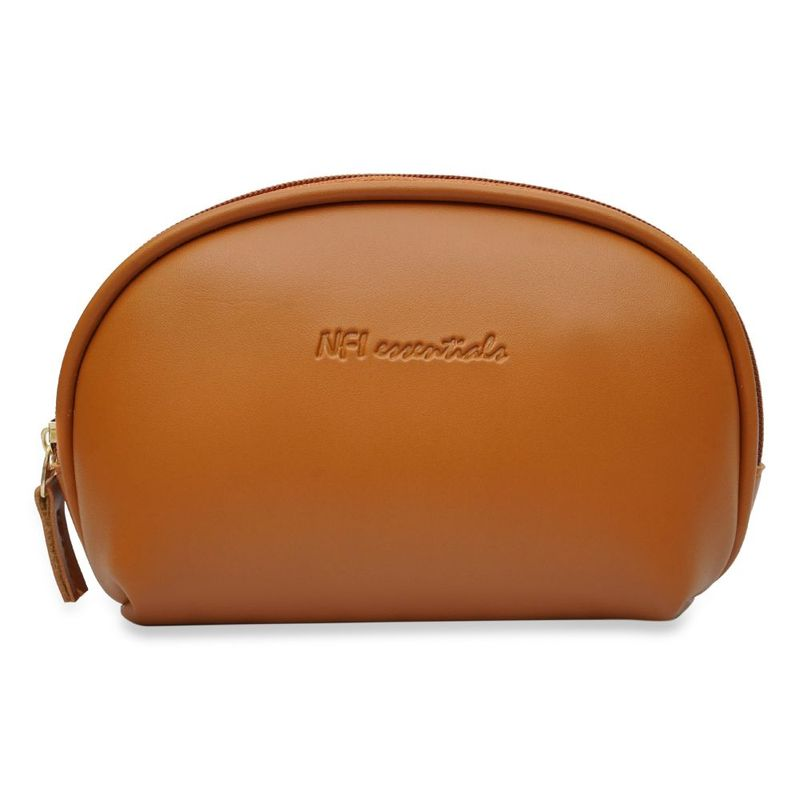NFI Essentials Cosmetic Pouch Tan Makeup Pouches And Vanity Kits