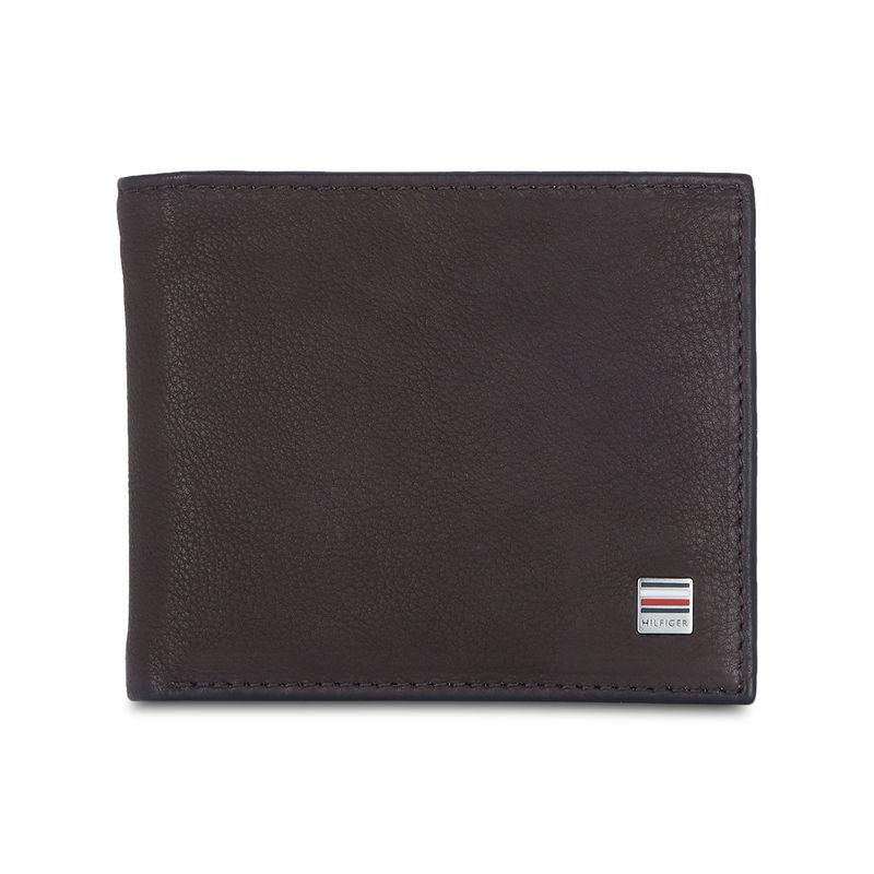 Tommy Hilfiger Grayton Mens Leather Global Coin Wallet Brown  8903496150315