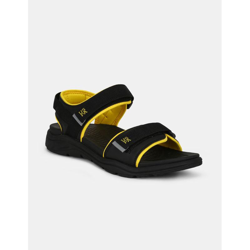 U.s. Polo Assn. Grant Black Sandals - 8