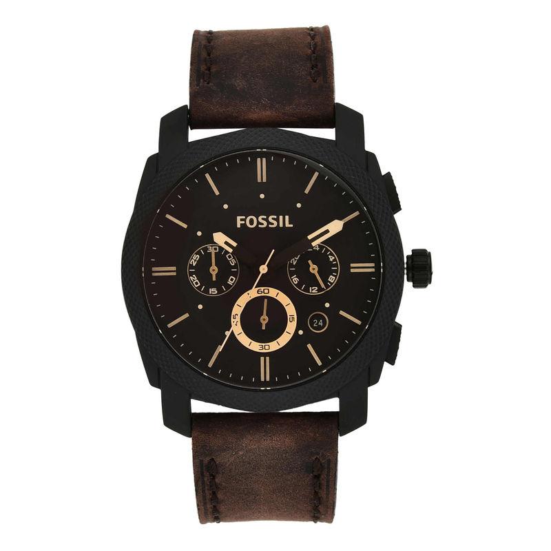 Fossil FS4656 Machine Dark Brown Watch For Men