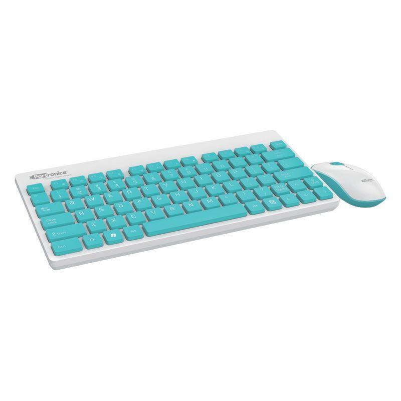 Portronics POR 372 Key2 Combo Multimedia Wireless keyboard   Mouse White