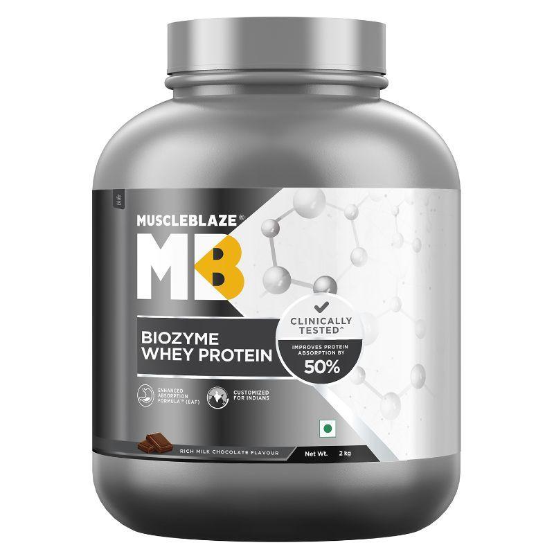 MuscleBlaze Biozyme Whey Protein - Rich Milk Chocolate