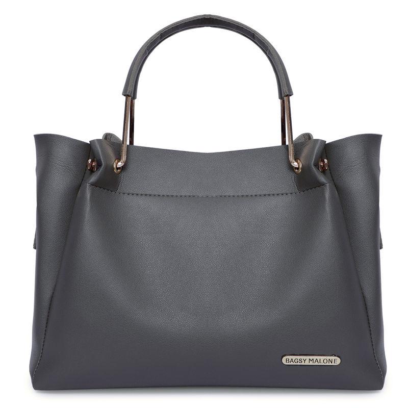 Bagsy Malone Grey Color Stylish Tote Handbag
