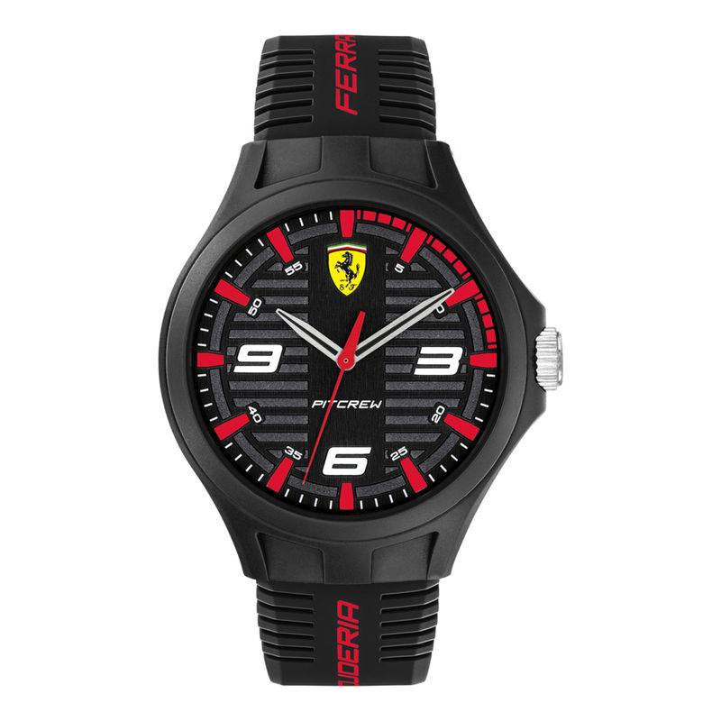 Scuderia Ferrari Pit Crew 0830778 Black Dial Analog Watch For Men