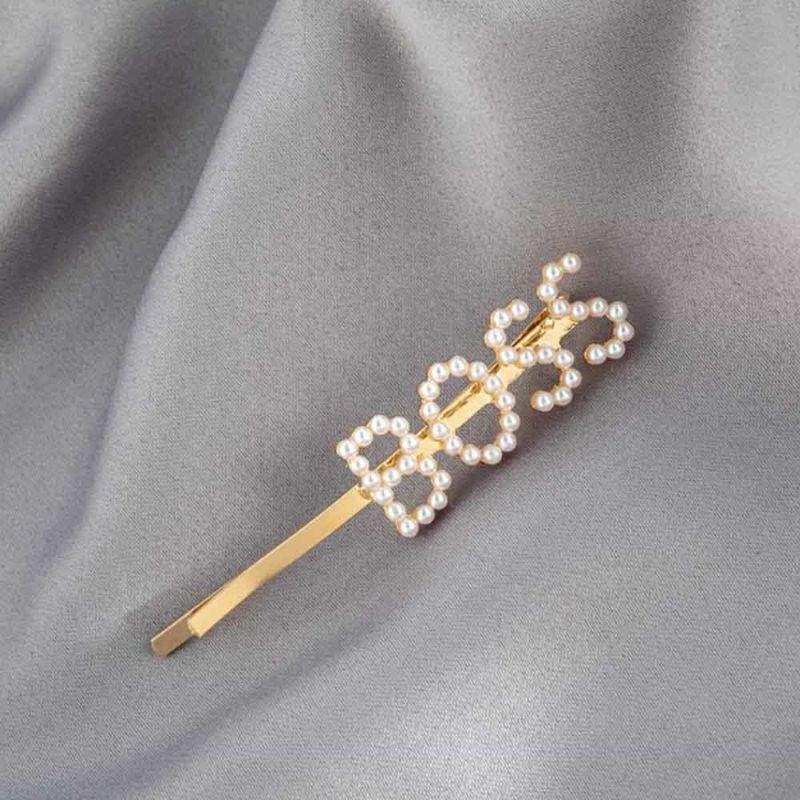 Ferosh Boss Pearl Golden Hair Pin