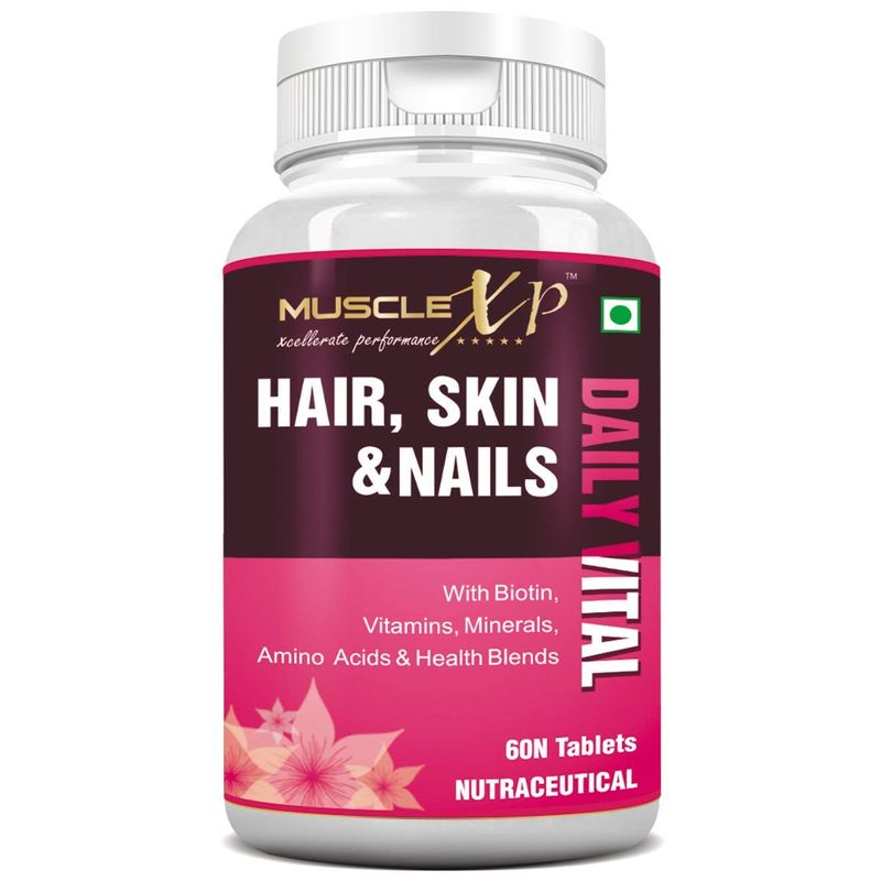 MuscleXP Biotin Hair, Skin   Nails Complete MultiVitamin   60 Tablets