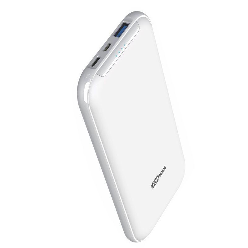 Portronics POR 1012 Smart Power 10K 10000mah Power Bank with Dual Input  Micro+ Type C  White