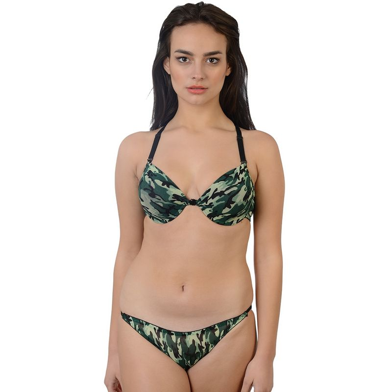 8b13a523aa9b Da Intimo Multi-Color Camouflage Front Open, Designer Back Lingerie Set at  Nykaa.com