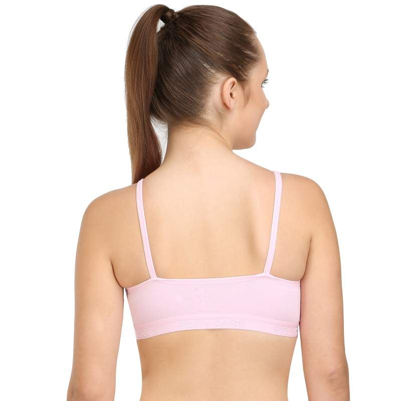 Bodycare Sports Bra In Pink-Red-Black Color - Pack Of 3