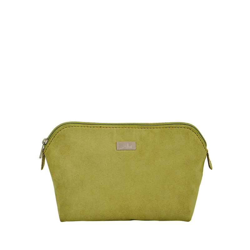 Yelloe Women'S Polyester Toiletry Kit Green Travel Bags