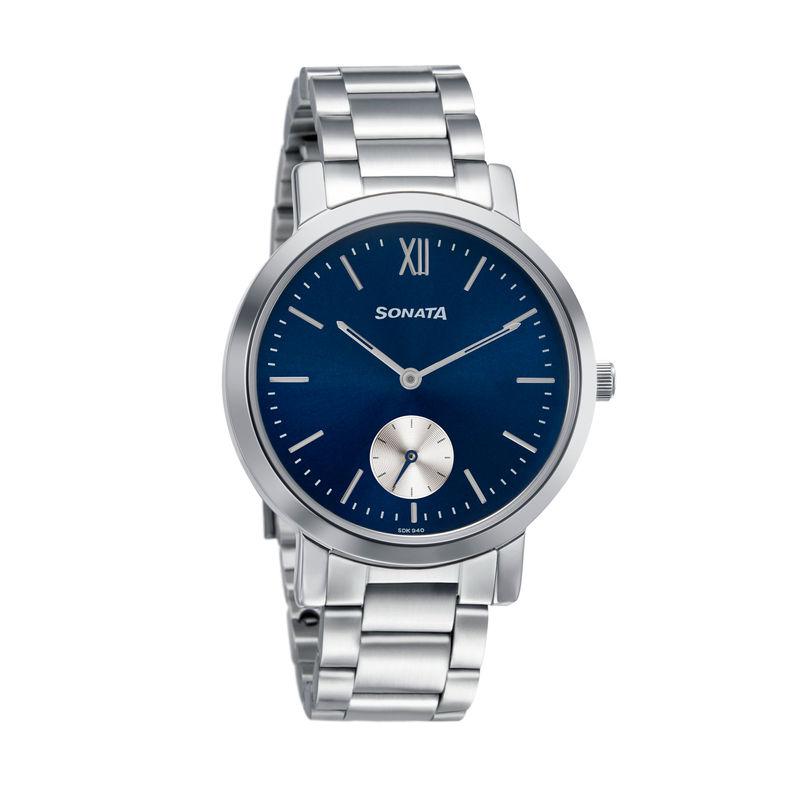 Sonata 8164SM04Blue Dial Analog Watch For Women