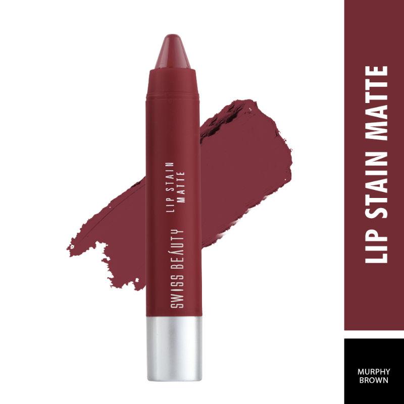 Swiss Beauty Lip Stain Matte Lipstick - 229 Murphy Brown