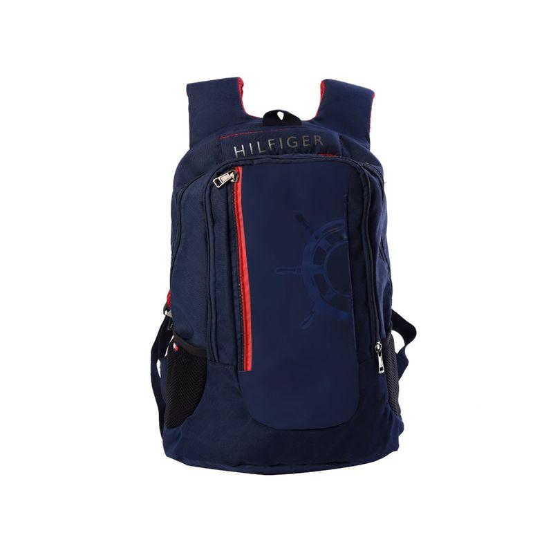 Tommy Hilfiger Navy Blue Biker Collection High School Bag