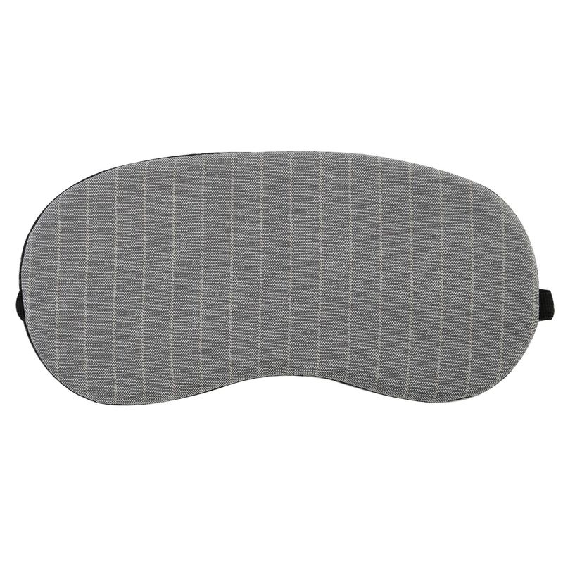 Visual Echoes Sleeping Eye Mask With Cooling Gel Inserts (Elegant Grey Striped)