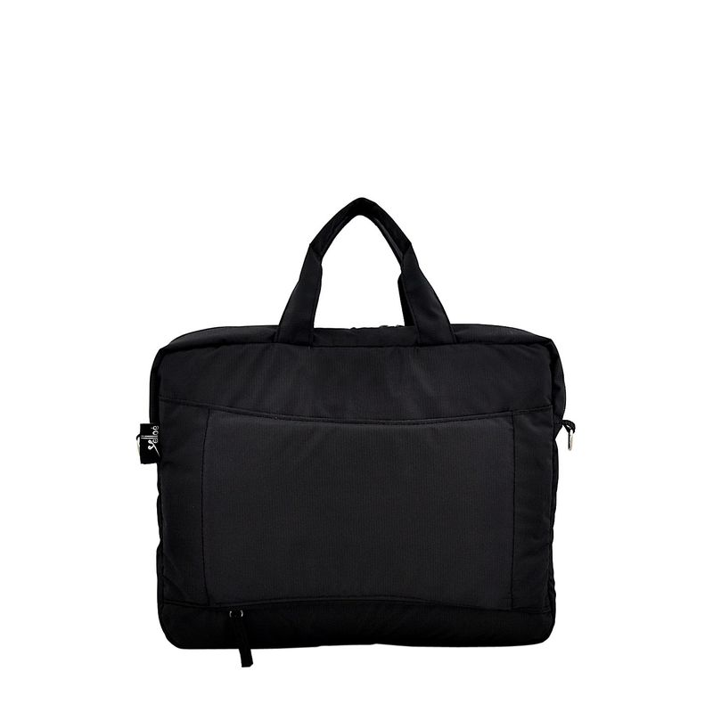 Yelloe 15.6 Inch Expandable Laptop Messenger Bag Black