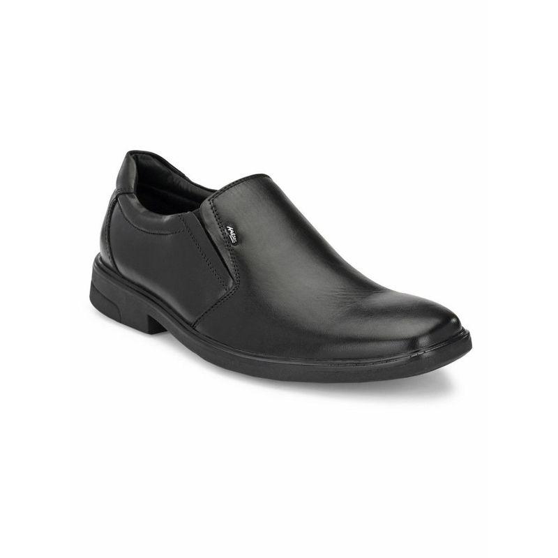 Hitz Solid Black Formal Leather Shoes - Uk 7