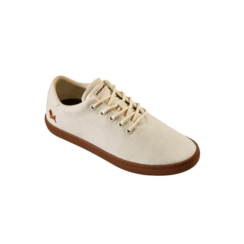 Neemans Cotton Classic Unisex Ivory Cream Sneakers - Uk 4