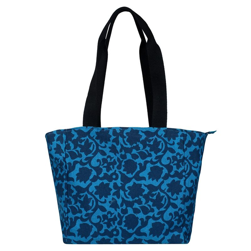 Anekaant Florid Blue Canvas Shoulder Bag