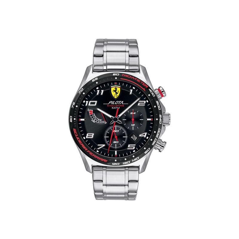 Scuderia Ferrari Pilota Evo 0830720 Black Dial Analog Watch For Men