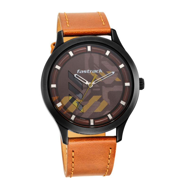 Fastrack Watches Gamify 3250nl02 Brown Dial Analog Watch For Men