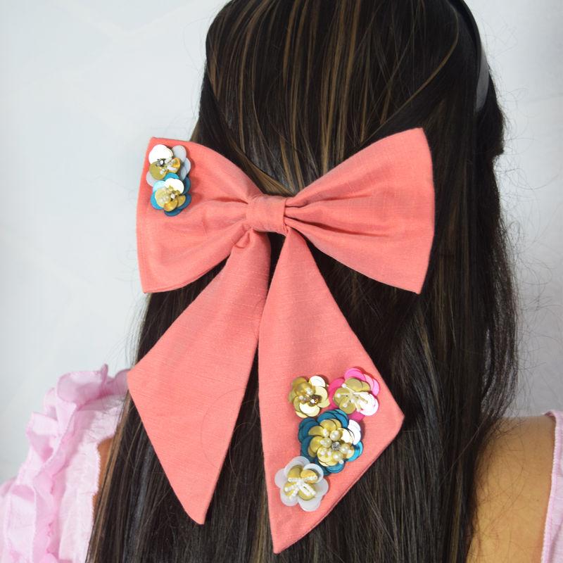 Soho Boho Studio Floral Fiesta Pigtail Hair bow