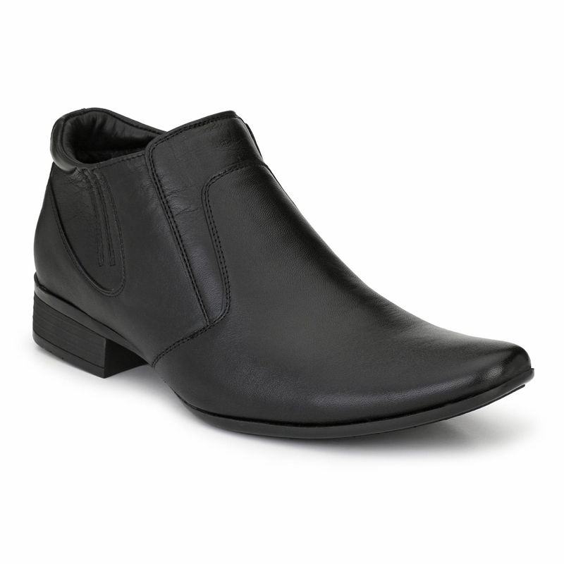 Hitz Black Leather Formal Shoes - Uk 10